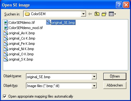 Selecton of BMP or TIF file name