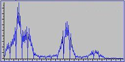 Gray values histogram of Fe-image